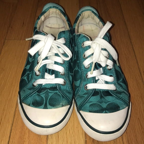 Coach Shoes   Forest Green Tennis